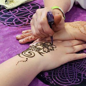 Henna Art - Ceili at the Roundhouse Celtic Festival