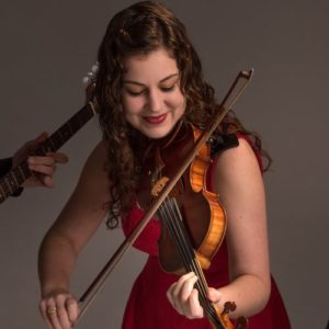 Rebecca Lomnicky from The Fire playing her Scottish Fiddle - Ceili at the Roundhouse Celtic Festival