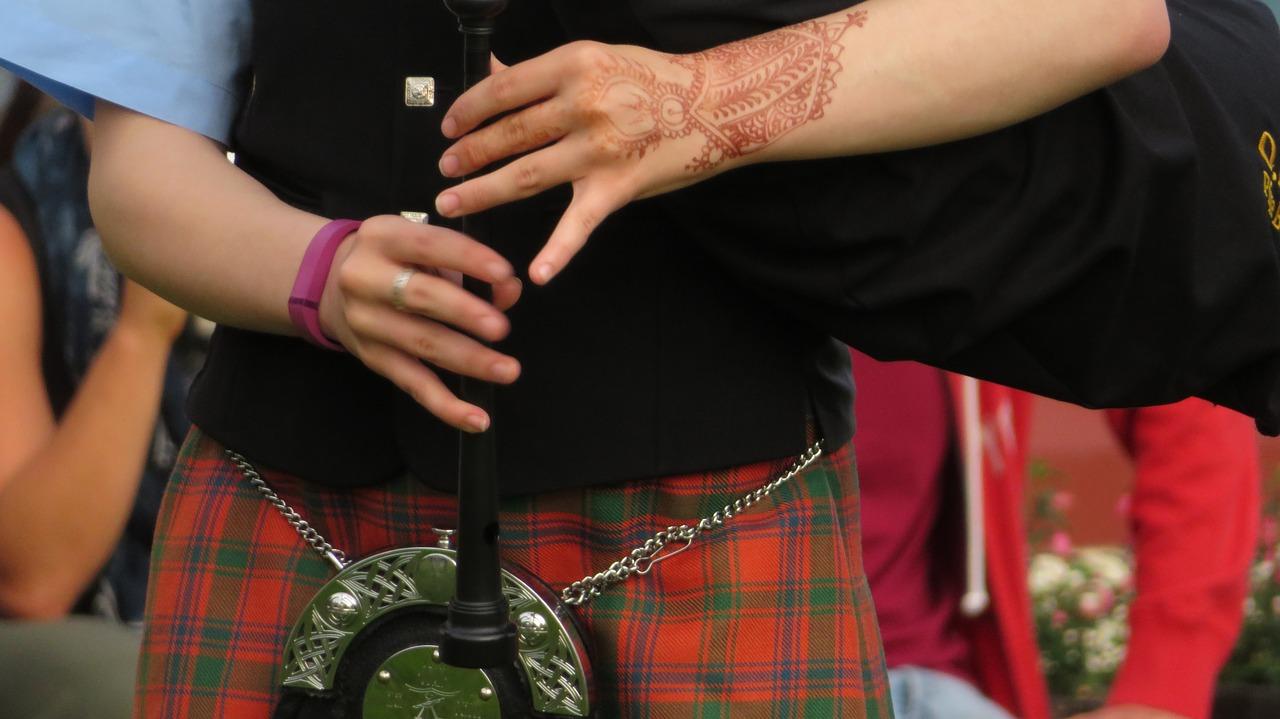 Bagpipes Scotland Child