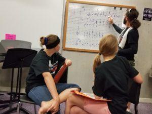 Mat Camp faculty member teaching music theory