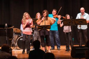Mat Camp faculty members performing at the faculty night concert