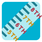 Grade Level Icon - a ruler with grades written on it