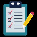 PTSB Educator Icon - a checklist graphic with a pencil