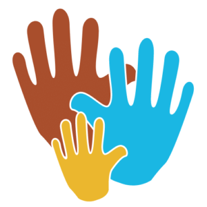 Become a Volunteer - 3 multiple colored clipart hands