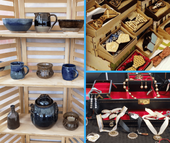 Some of the many items for purchase at the Vendor Fair - Ceili at the Roundhouse Celtic Festival