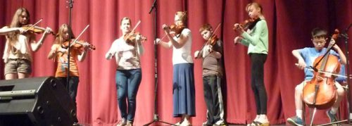 Intermediate Folk Ensemble performance