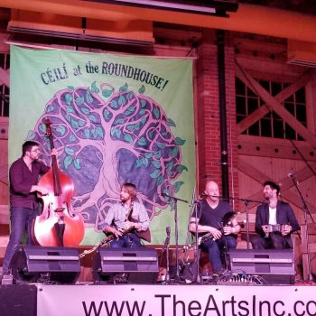 Realta & Ingmar playing together at the Ceili at the Roundhouse Celtic Festival